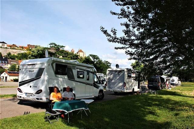 Wohnmobilisten kommen gerne nach Breisach
