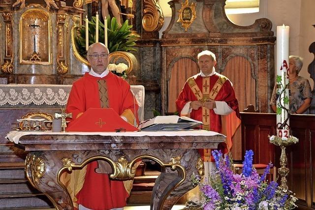 Zwei Pfarrer feiern ein Jubiläum