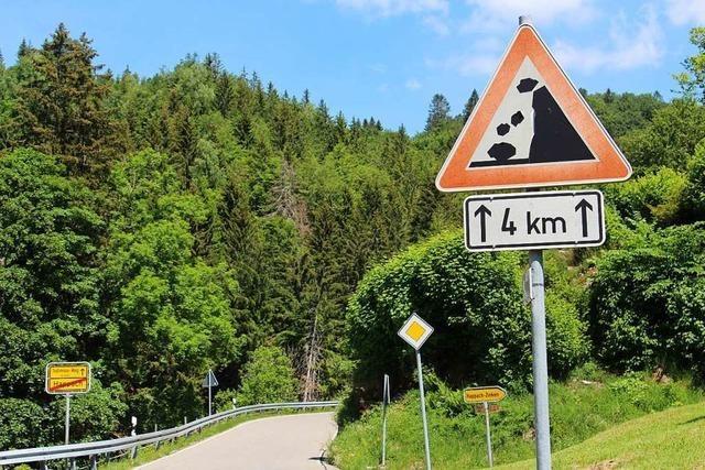 Können Warnschilder gegen Steinschlaggefahr Unfälle vermeiden?