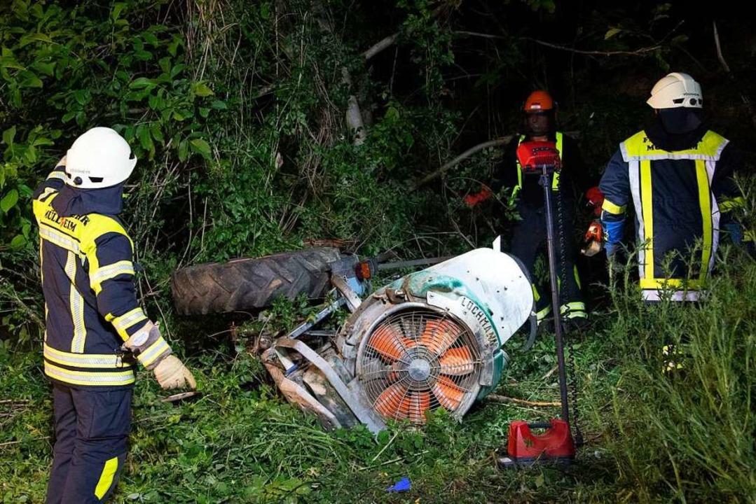 Lebensgefährlich verletzt wurde ein Wi...neun Meter hohe Böschung herabstürzte.  | Foto: Volker Münch
