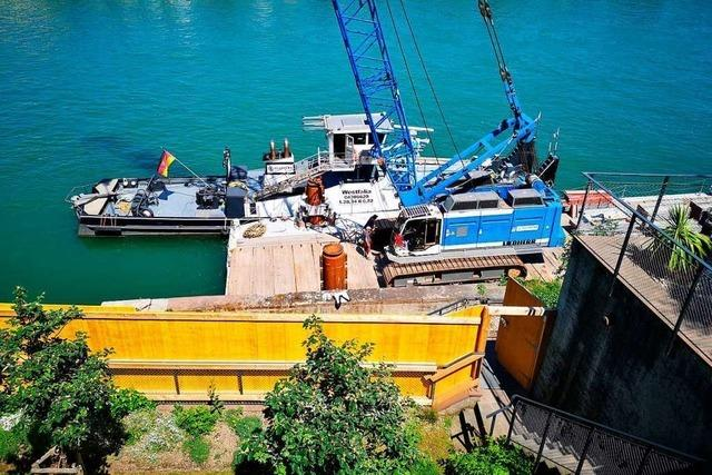 Die Ufermauer am Rheinsprung Basel muss saniert werden