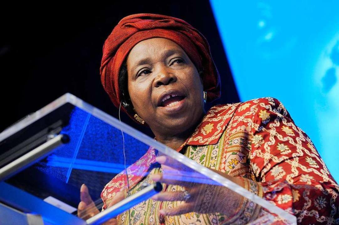 Die umstrittene Nkosazana Dlamini-Zuma...ielerin von Präsident Cyril Ramaphosa.  | Foto: JOHN THYS