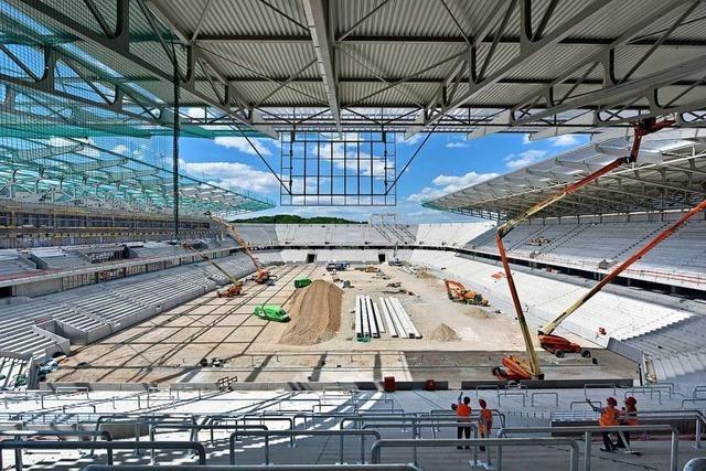 Der Bau des neuen SC-Stadions kommt trotz Corona voran