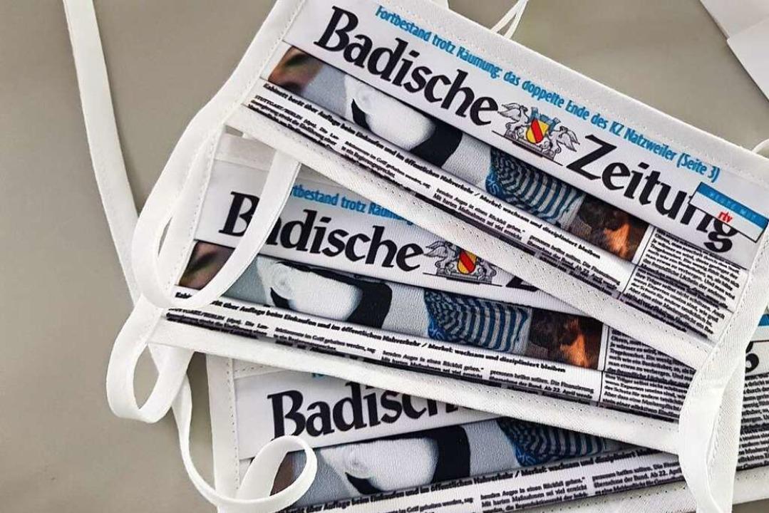 Die Badische Zeitung in Lahr  hat von ...en in ganz speziellem Design erhalten.  | Foto: BZ