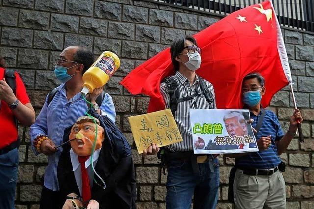 China zieht Vergleiche zwischen Hongkong und den USA