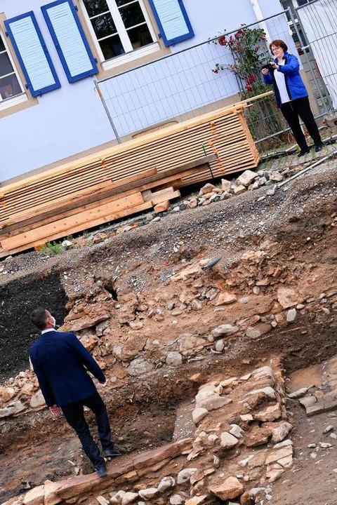 Bevor alles bebaut wird, lässt der Bür... seinem Amtszimmer heute blicken kann.  | Foto: Hans-Peter Müller