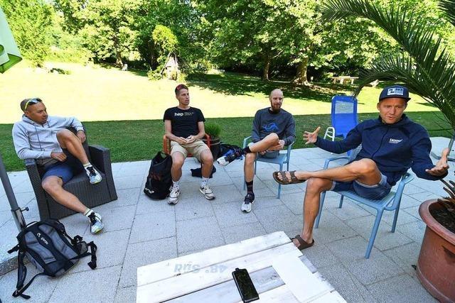 Profi-Triathleten weichen für Schwimmtraining nach Merzhausen aus