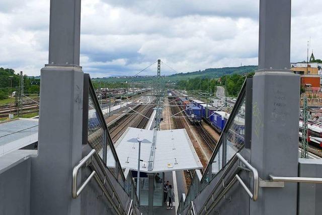 Endlich wird auch der Bahnsteig 3 am Bahnhof Weil am Rhein saniert
