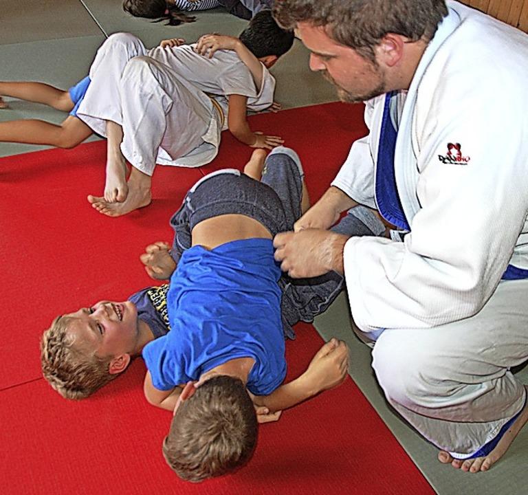 """""""Judo auf dem Bauernhof"""" m...mmer  kontaktlos präsentiert werden.      Foto: Herbert Frey"""