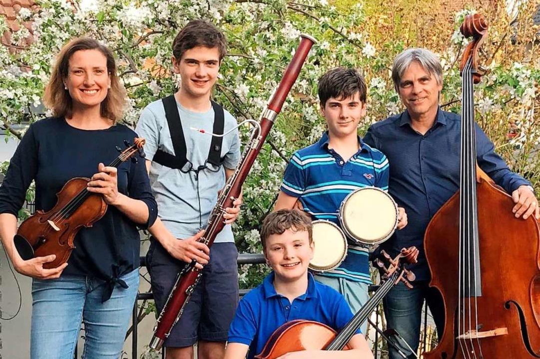 Die Dölings aus Waltershofen sind eine richtig musikalische Familie.  | Foto: privat