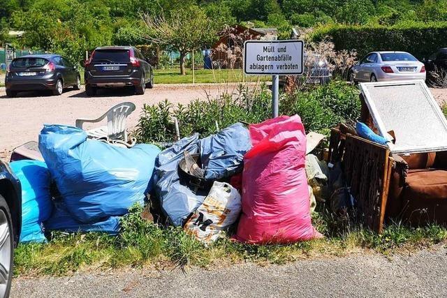 Wilder Müll sorgt für Ärger in der Stadt und bei Kleingärtnern im Ernet