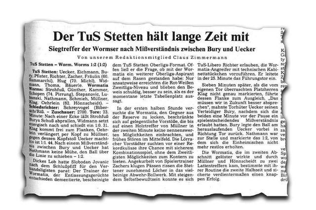 Als der TuS Lörrach-Stetten im DFB-Pokal Dragoslav Stepanovic ärgerte