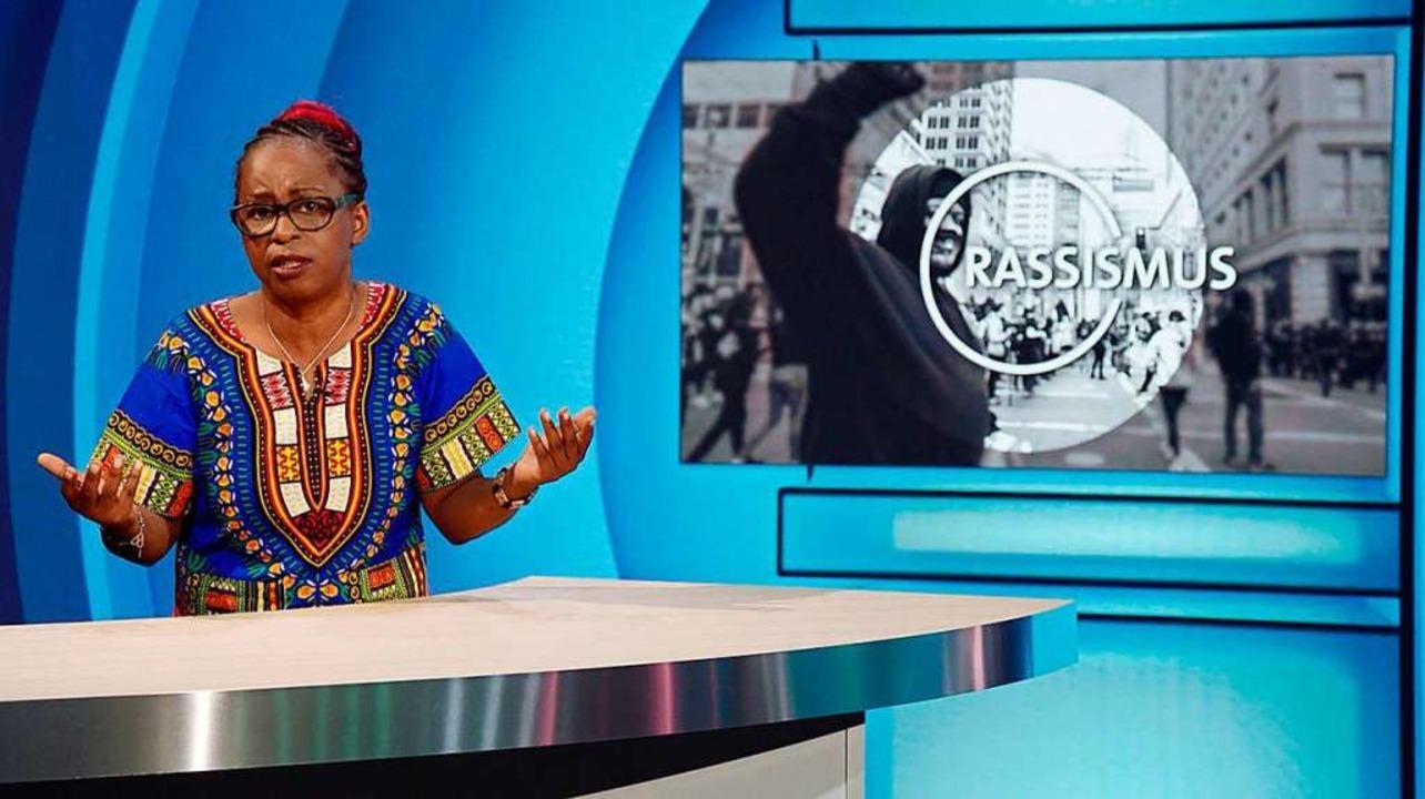 "Shary Reeves im Rassismus ""Brenn...n der Comedy-Show von Carolin Kebekus.  | Foto: WDR"