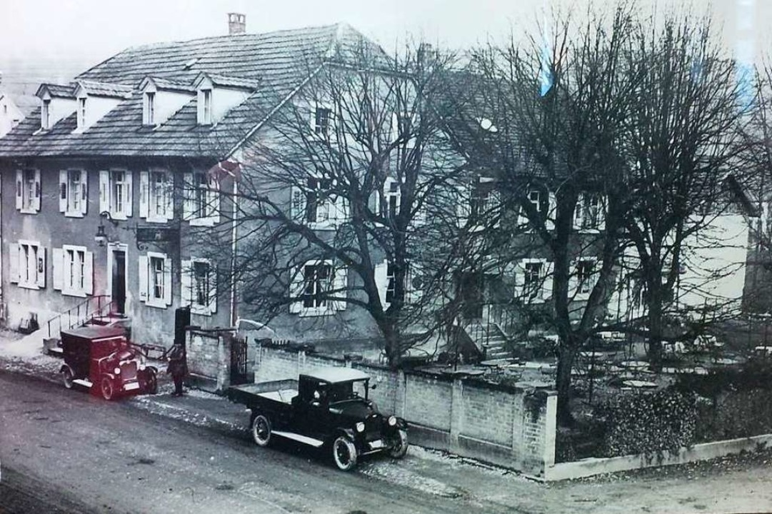 Das frühere Mättle mit Biergarten.    Foto: Wohnbau Lörrach