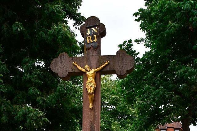 Statt Prozession gibt es in Grenzach-Wyhlen Feldkreuze zu entdecken