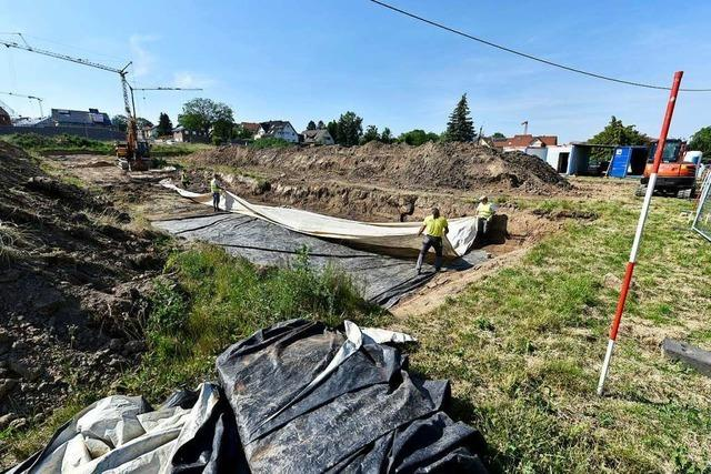Archäologische Grabungen sorgen bei Neubaugebiet in Tiengen für Verzögerungen
