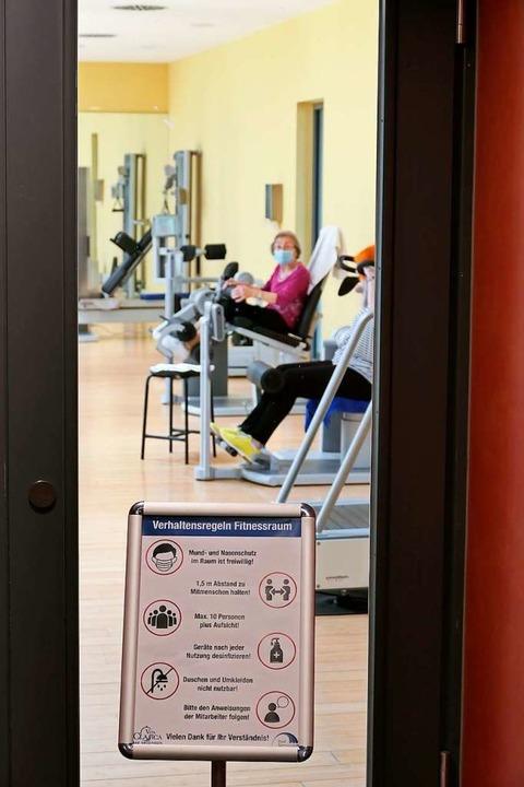 Auch der Fitnessraum ist wieder offen,...en den Geräten entsprechend vergrößert  | Foto: Hans-Peter Müller