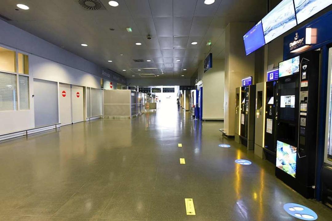 Gähnende Leere am Euroairport.  | Foto: Jonas Hirt