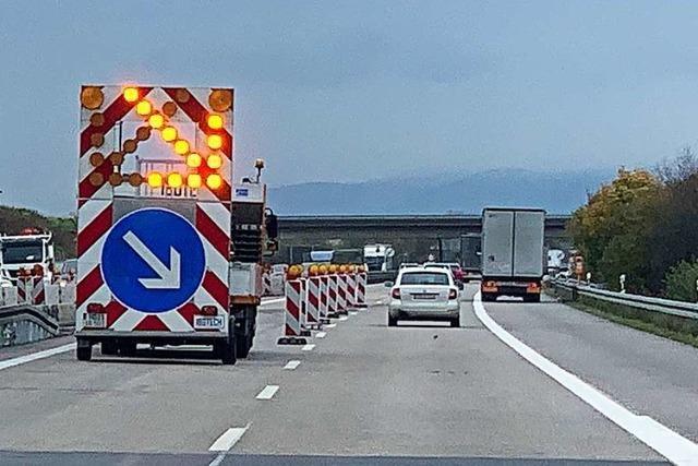 Mehrere Wochen einspuriger Verkehr auf der A98 Richtung Weil