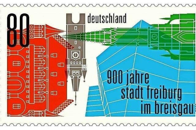 Zum Freiburger Stadtjubiläum erscheint eine Sonderbriefmarke