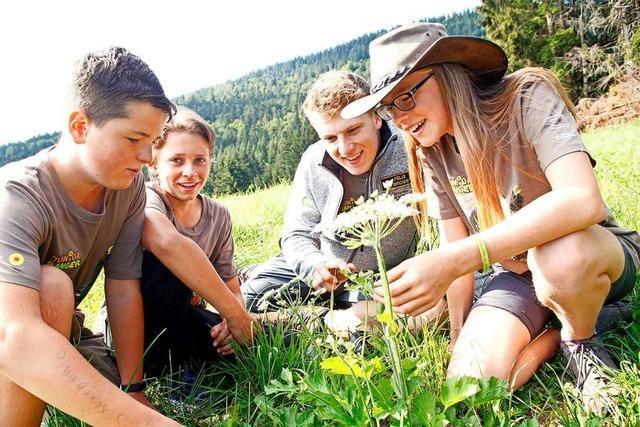 Junior Ranger sind selbstständig im Biosphärengebiet Schwarzwald aktiv