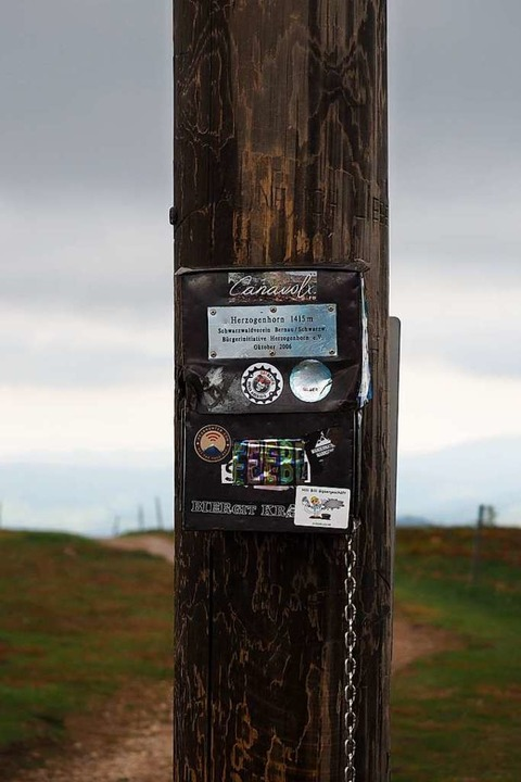 Hier ist das Gipfelbuch.    Foto: Susanne Gilg