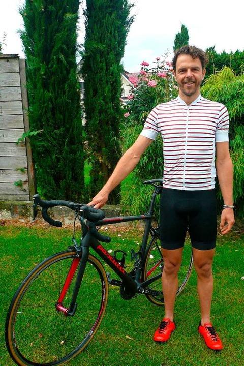 Marc Schäfholz mit seinem Rad  | Foto: Nina Herrmann