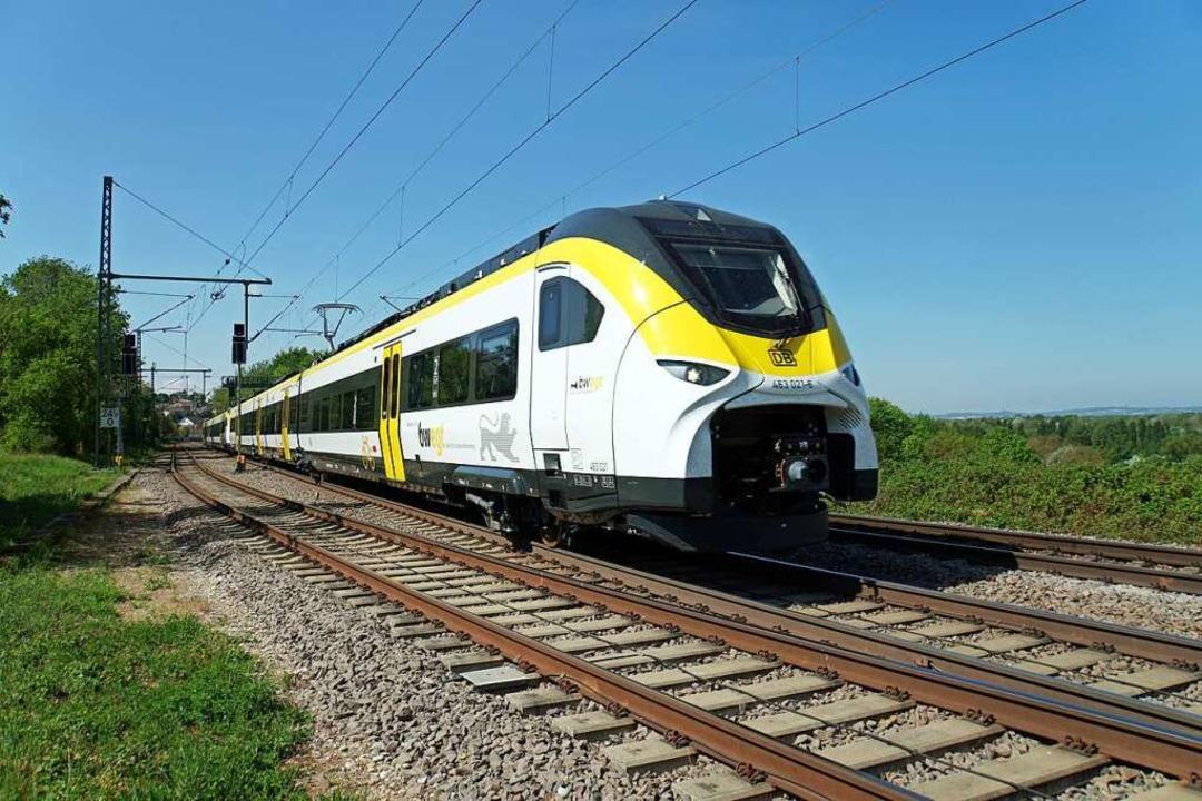 Die neuen Züge  beschleunigen besser.  | Foto: Heinz Göttlich