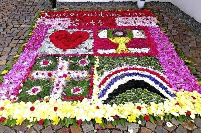Blumenteppich auch ohne Prozession