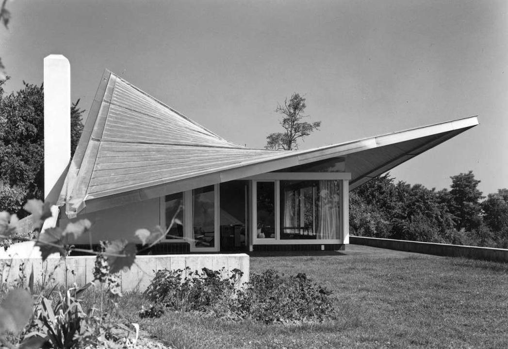 Das  Haus Vischer der Architekten Feli...ingenieur Heinz Hossdorf verwirklicht.  | Foto: Alexander von Steiger
