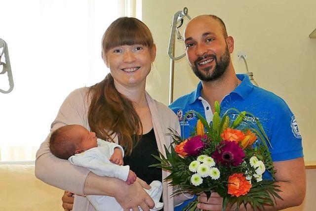 Baby Nummer 1000 im Elisabethenkrankenhaus heißt Giuliano Francesco Scianna