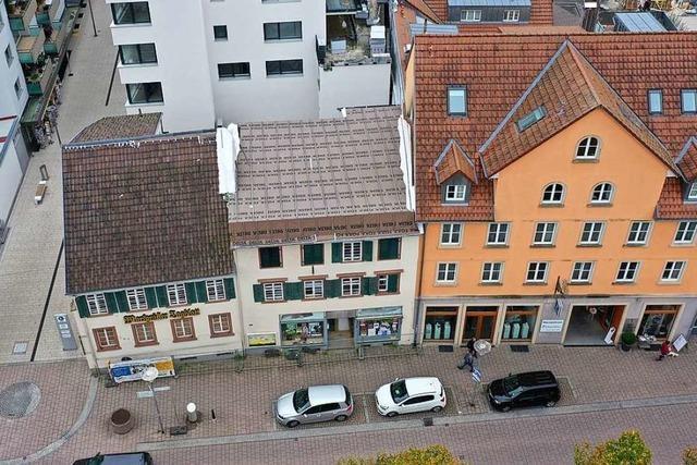 Um den Abriss der Uehlin-Häuser in Schopfheim gibt es Zwist