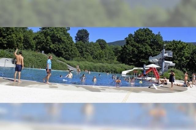 In Waldkirch beginnt der Badespaß mit sehr viel Sonne