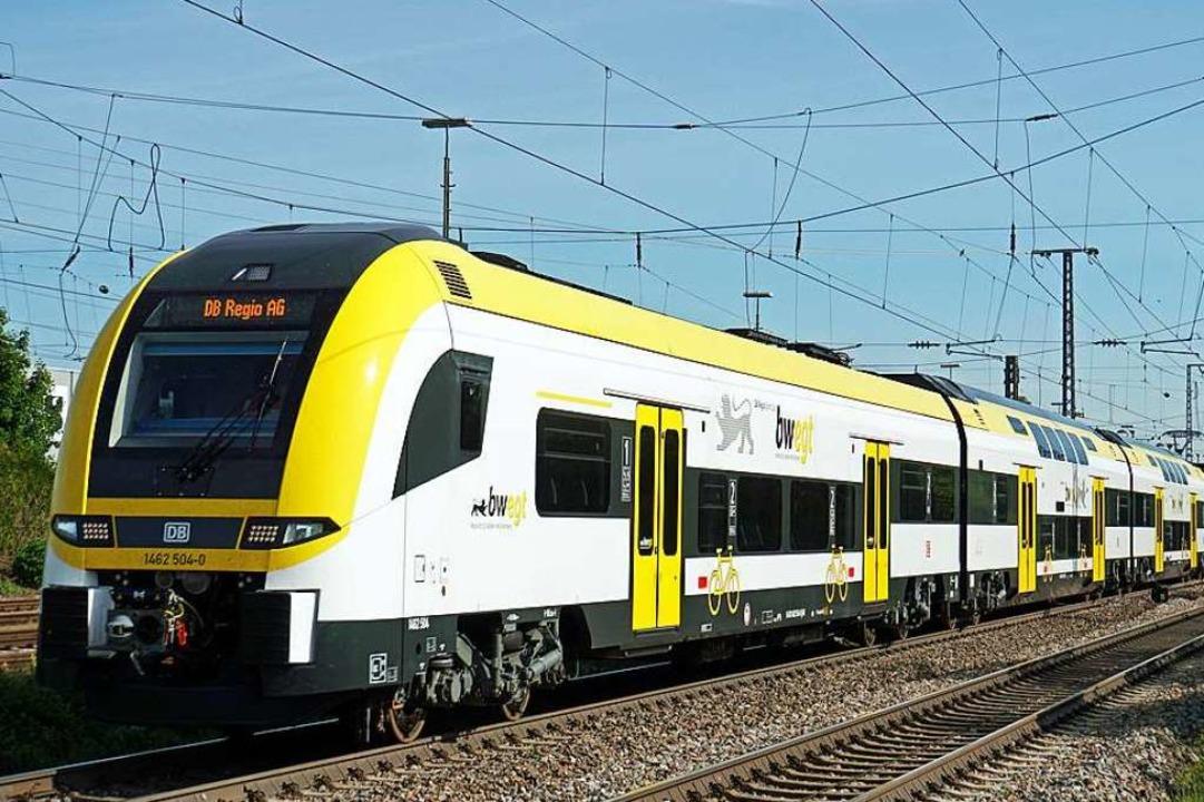 Der Desiro HC von Siemens soll ab 14. ...r vier Zugglieder sind  doppelstöckig.  | Foto: Heinz Göttlich