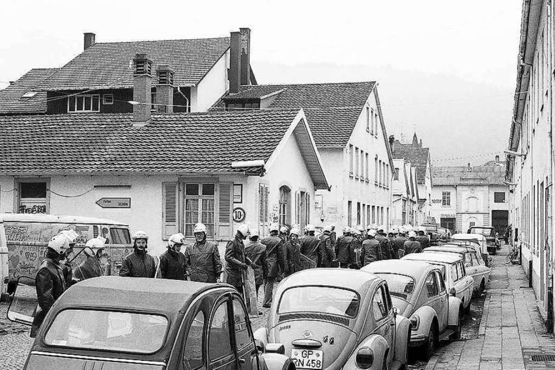 Geräumt wurde der Schwarzwaldhof neun Monate später am  5. März 1981.    Foto: Marlis Decker, Landesarchiv Baden-Württemberg