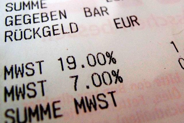Mehrwertsteuer-Rabatt ist auch an der Kasse möglich
