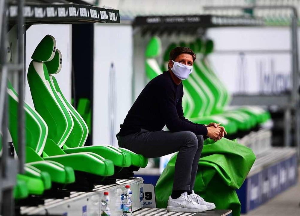 Wolfsburgs Trainer Oliver Glasner  | Foto: Swen Pförtner (dpa)