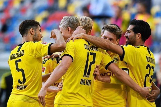 Borussia Dortmund vertagt die Meisterfeier der Bayern vorerst