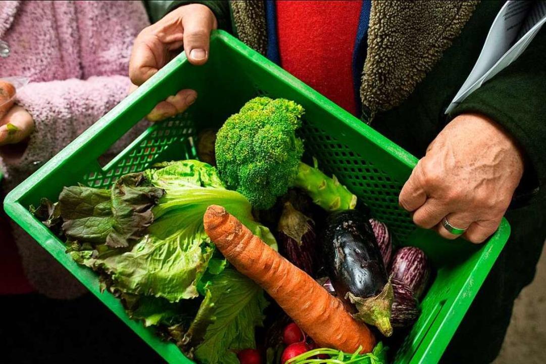 Ein Fall für Foodsharer: Gemüse, das in Geschäften aussortiert wird    Foto: Matthias Balk