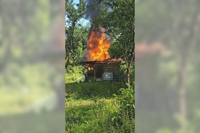 Gartenhütte in Kippenheim durch Feuer zerstört