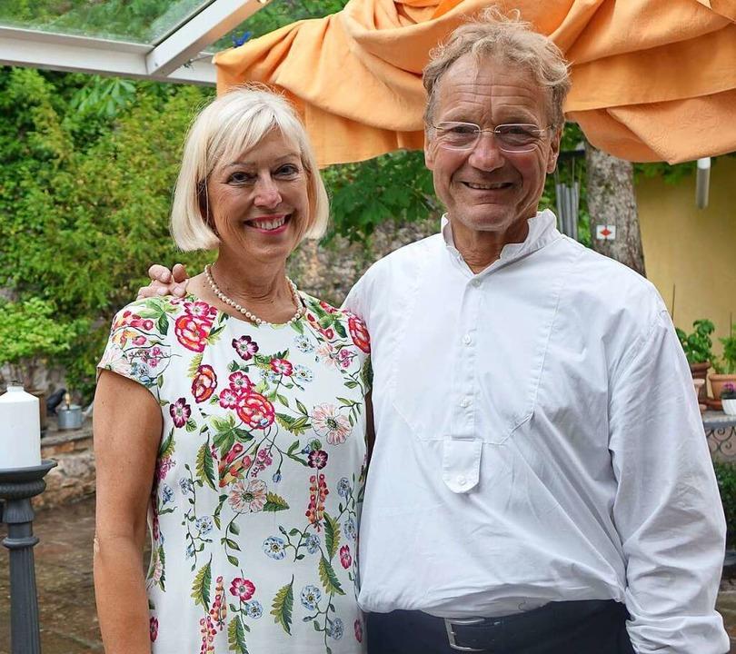 Die Gastgeber Veit und Karin Bürkle    Foto: Roswitha Frey