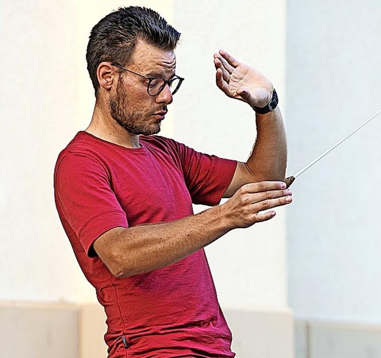 Dirigent Jakob Scherzinger    Foto: Wolfgang Scheu
