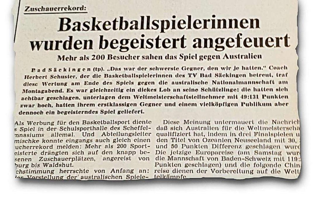 Erstklassiger Gegner und Zuschauerrekord: die BZ vom 6. September 1978  | Foto: BZ-Archiv