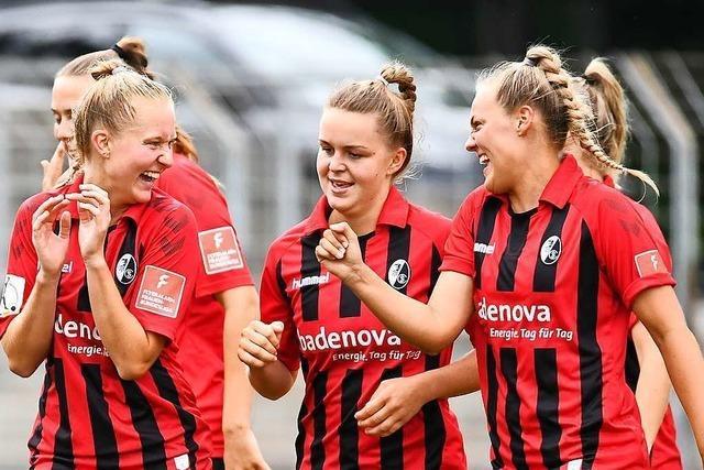 Frauen des SC Freiburg feiern 6:1-Kantersieg gegen Köln