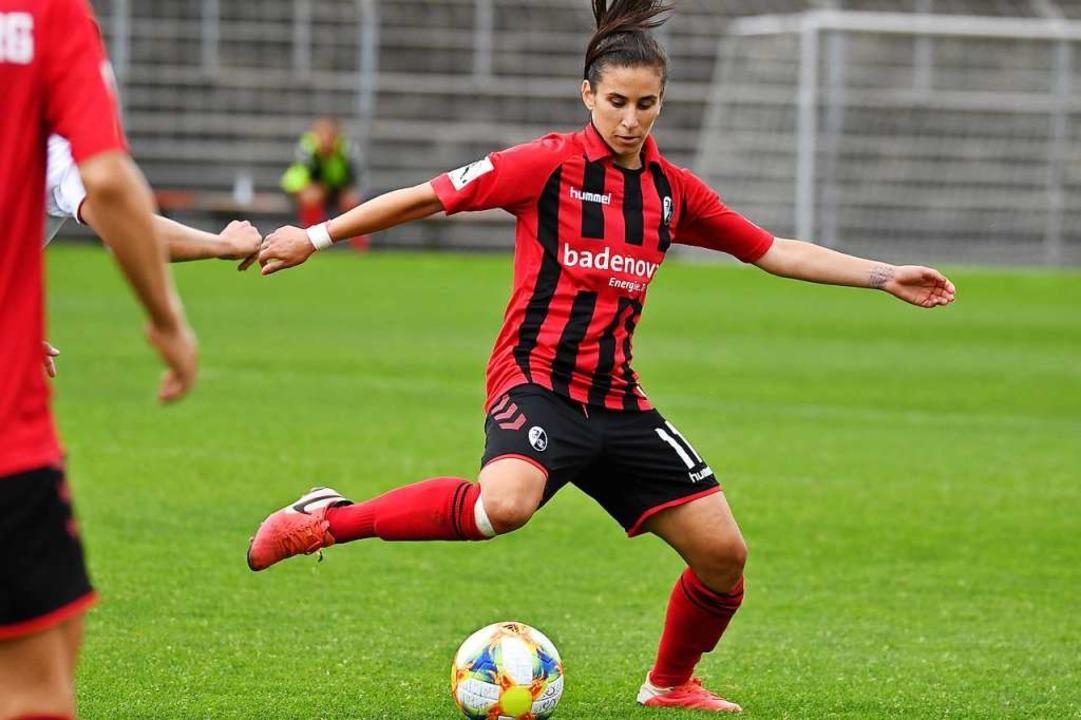 Hasret Kayikci überzeugt einmal mehr mit einer Top-Leistung.    Foto: Achim Keller/SCFreiburg/POOL