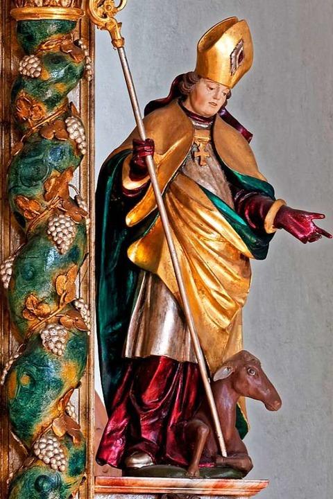 Die Ägidiusstatue in der Kapelle Himmelspforte  | Foto: Thomas Dix Foto-Design