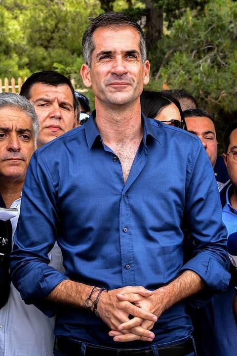 Er will den Athenern ihre Stadt zurückgeben: Bürgermeister Kostas Bakogiannis.  | Foto: ANTONIS NIKOLOPOULOS (afp)