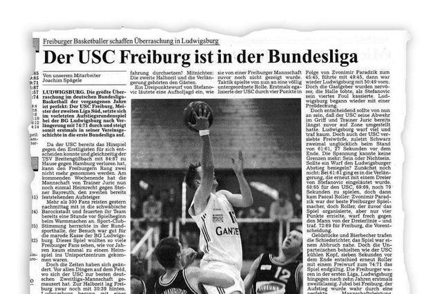 Vor 23 Jahren schafften die USC-Basketballer den Aufstieg in die Bundesliga