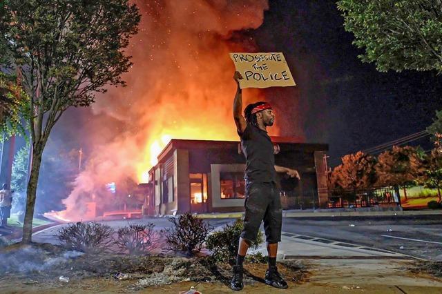 Wütende Proteste in Atlanta