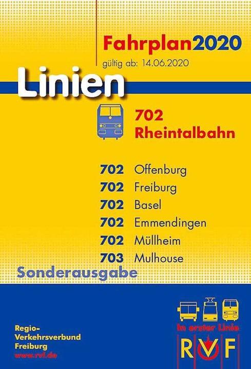 Der neue RVF-Taschenfahrplan Rheintalbahn  | Foto: RVF